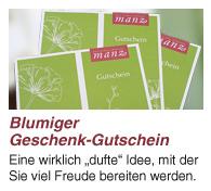 Geschenkgutscheine von Gärtnerei Manz in Neckartenzlingen