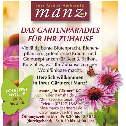 Gärtnerei Manz - Gartenparadies